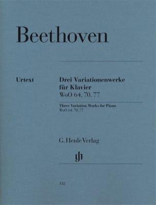 3 Variationenwerke BEETHOVEN Partition Piano - laflutedepan
