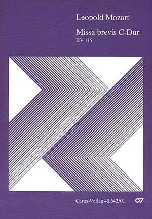 Missa Brevis In C K 115 - Leopold Mozart - laflutedepan.com