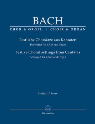 Festive choral settings from Cantatas BACH Partition laflutedepan
