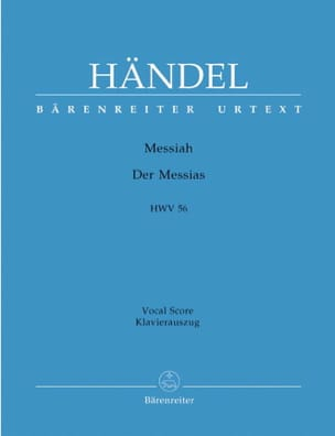 Messiah. Version Allemande HAENDEL Partition Chœur - laflutedepan