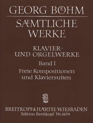 Oeuvres Complètes Volume 1 Georg Boehm Partition laflutedepan