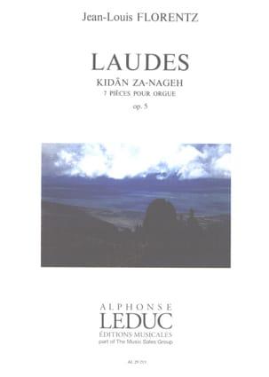 Laudes Opus 5 Jean-Louis Florentz Partition Orgue - laflutedepan