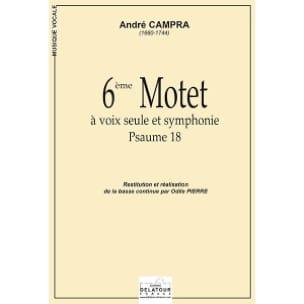 6ème Motet CAMPRA Partition Hautbois - laflutedepan