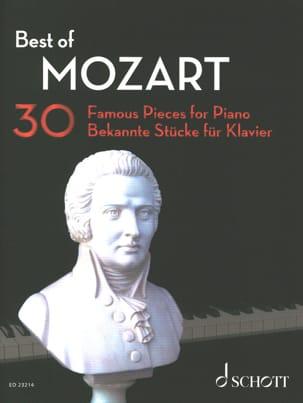 Best of MOZART MOZART Partition Piano - laflutedepan
