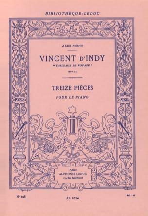 Tableaux de Voyage Opus 33 Vincent d' Indy Partition laflutedepan