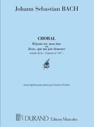 Cantate 147 Choral Piano Jésus Que ma Joie Demeure.. BACH laflutedepan