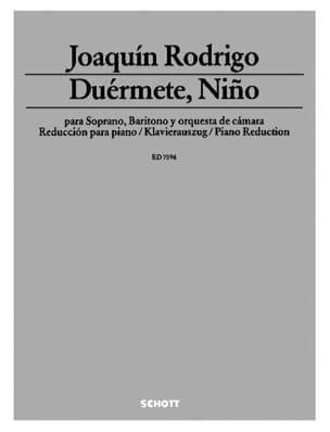Duérmete, Niño 1952 RODRIGO Partition Duos - laflutedepan