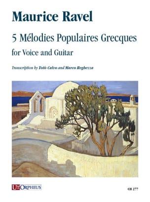 5 Mélodies populaires grecques RAVEL Partition Guitare - laflutedepan