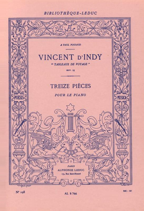Tableaux de Voyage Opus 33 - Vincent d' Indy - laflutedepan.com