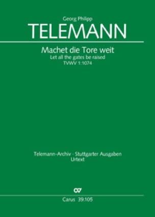 Machet die Tore weit - TELEMANN - Partition - Chœur - laflutedepan.com
