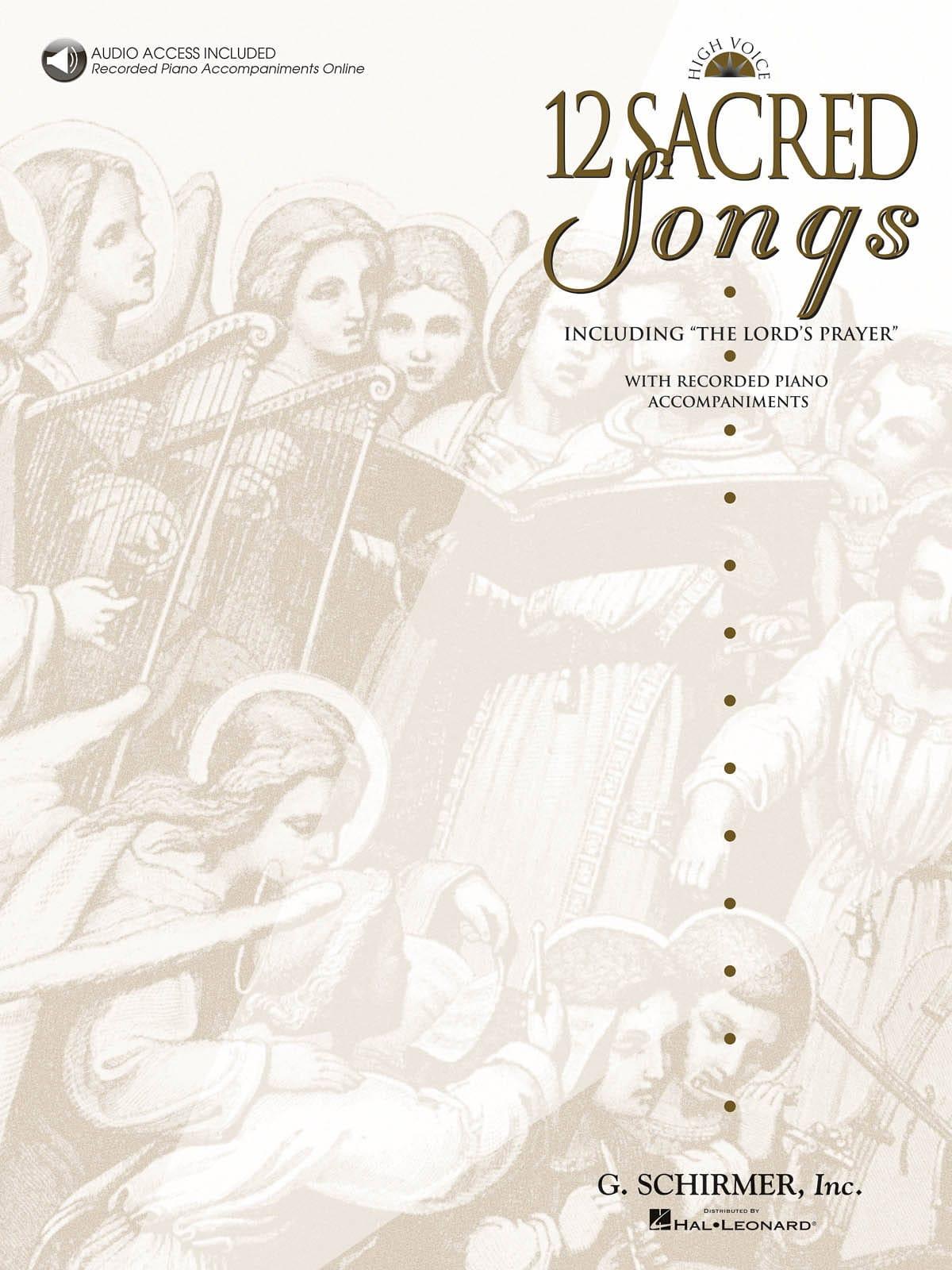 12 Sacred Songs. Voix Haute - Partition - laflutedepan.com