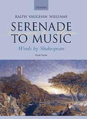 Serenade To Music - WILLIAMS VAUGHAN - Partition - laflutedepan.com