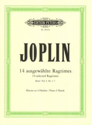 Ragtimes Volume 1. 4 Mains JOPLIN Partition Piano - laflutedepan