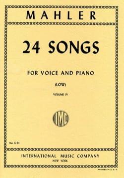 24 Songs Volume 4. Voix Grave MAHLER Partition Mélodies - laflutedepan