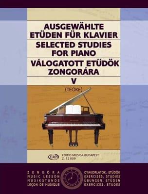 Etudes Vol 5. Teoke Partition Piano - laflutedepan