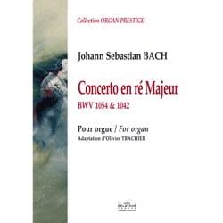 Concerto en RÉ Majeur - BWV 1054 et 1042 BACH Partition laflutedepan