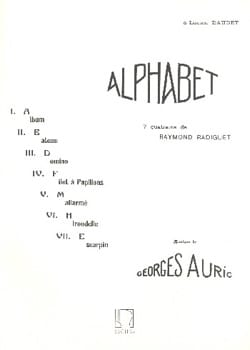 Alphabet Georges Auric Partition Mélodies - laflutedepan