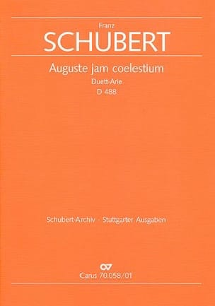 Auguste Jam Coelestium D 488. Conducteur SCHUBERT laflutedepan