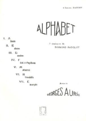 Alphabet - Georges Auric - Partition - Mélodies - laflutedepan.com