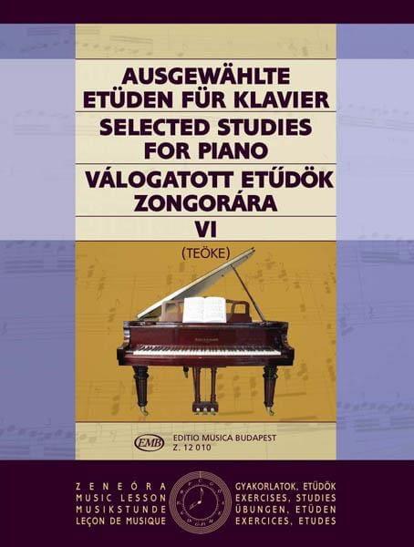 Etudes Vol 6 - Teoke - Partition - Piano - laflutedepan.com
