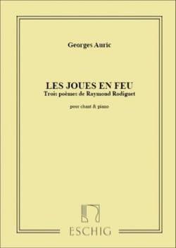 Les Joues En Feu Georges Auric Partition Mélodies - laflutedepan