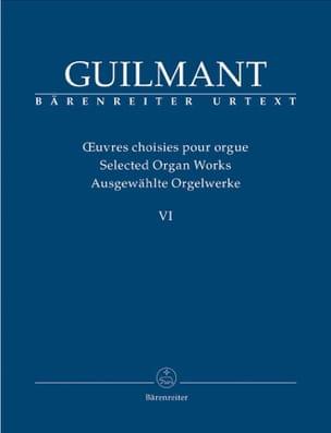 Oeuvres Choisies pour Orgue Volume 6 Alexandre Guilmant laflutedepan