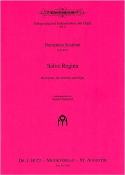 Salve regina - SCARLATTI - Partition - Duos - laflutedepan.com