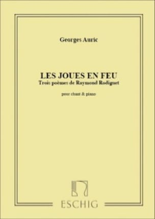 Les Joues En Feu - Georges Auric - Partition - laflutedepan.com