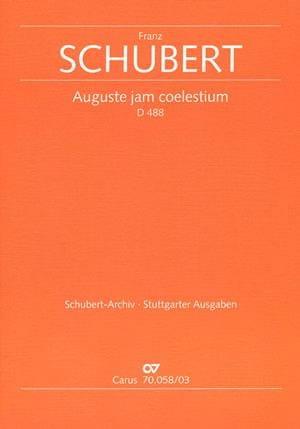 Auguste Jam Coelestium D 488 - SCHUBERT - Partition - laflutedepan.com