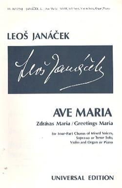 Ave Maria JANACEK Partition Chœur - laflutedepan