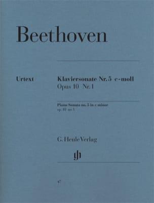 BEETHOVEN - Sonata para piano n. ° 5 do menor Opus 10 n. ° 1 - Partition - di-arezzo.es