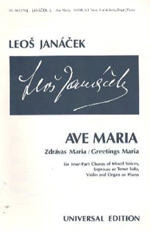 Ave Maria - JANACEK - Partition - Chœur - laflutedepan.com