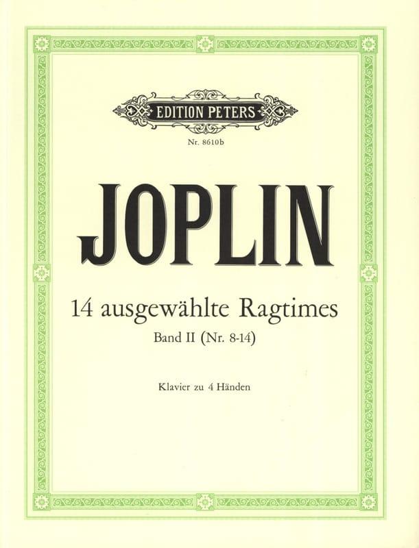 Ragtimes Volume 2. 4 Mains - JOPLIN - Partition - laflutedepan.com