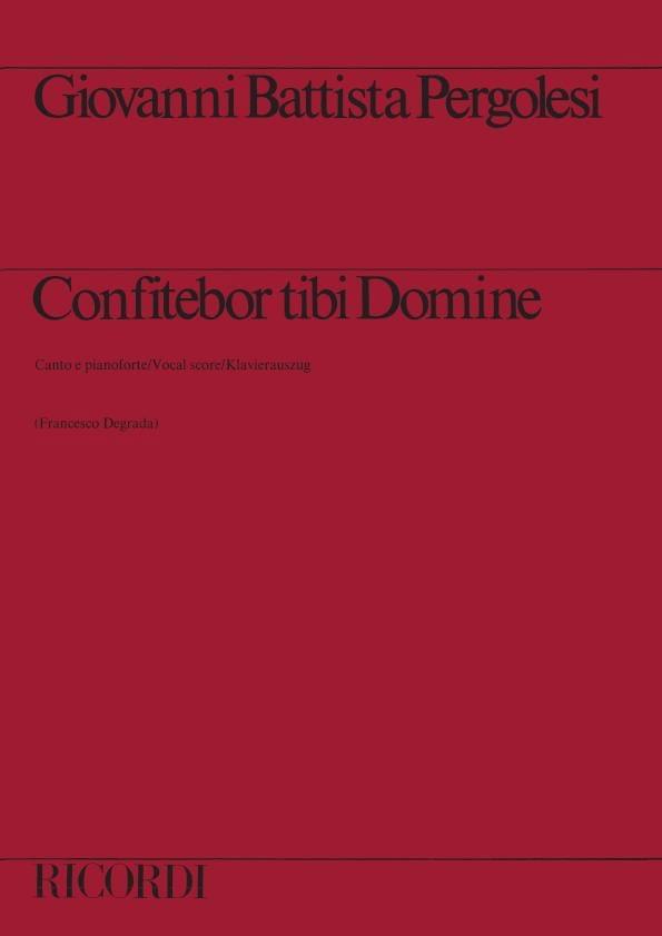 Confitebor Tibi Domine - PERGOLESE - Partition - laflutedepan.com
