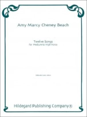 12 Songs - Amy Beach - Partition - Mélodies - laflutedepan.com