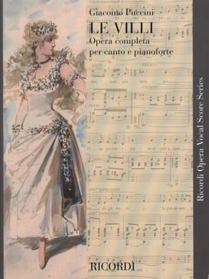 Giacomo Puccini - The Villi - Partition - di-arezzo.co.uk
