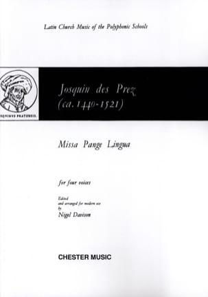 Missa Pange Lingua Josquin Després Partition Chœur - laflutedepan