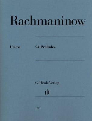 24 Préludes RACHMANINOV Partition Piano - laflutedepan