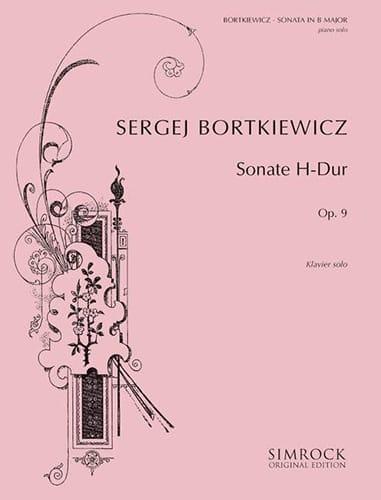 Sonate Op. 9 - Serge Bortkiewicz - Partition - laflutedepan.com