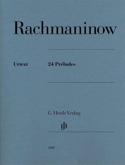 24 Préludes - RACHMANINOV - Partition - Piano - laflutedepan.com