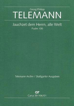 Jauchzet Dem Herrn, Alle Welt Tvwv 7-20. Conducteur laflutedepan