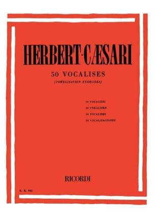 50 Vocalises Herbert-Caesari Partition Pédagogie - laflutedepan
