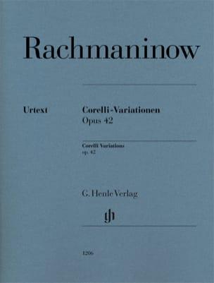 Variations Corelli Opus 42 RACHMANINOV Partition Piano - laflutedepan