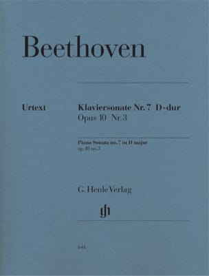 Sonate Pour Piano n° 7 Ré majeur Opus 10-3 BEETHOVEN laflutedepan