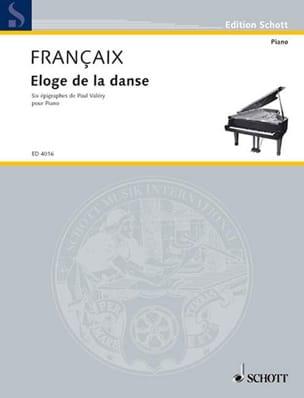 Eloge de la danse FRANÇAIX Partition Piano - laflutedepan