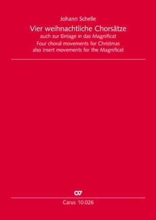 4 Weihnachtliche Chorsätze Johann Schelle Partition laflutedepan