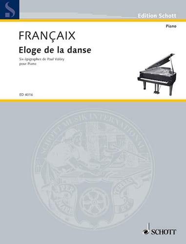 Eloge de la danse - FRANÇAIX - Partition - Piano - laflutedepan.com