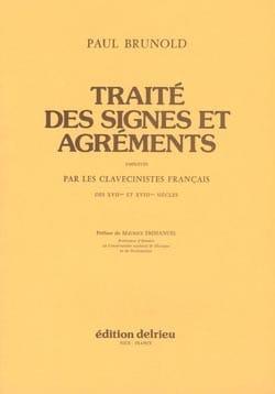 Traité des Signes et Agréments Paul Brunold Partition laflutedepan