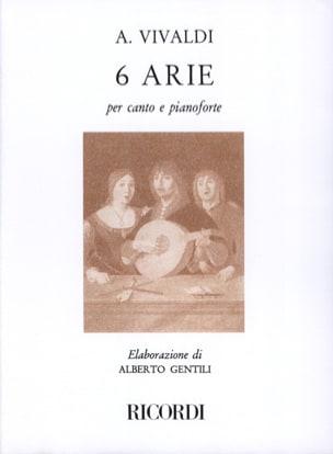 6 Arie VIVALDI Partition Mélodies - laflutedepan