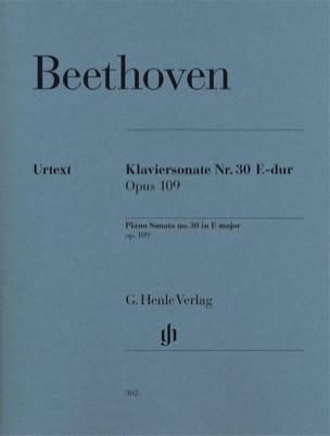Sonate n° 30 en Mi majeur Opus 109 BEETHOVEN Partition laflutedepan